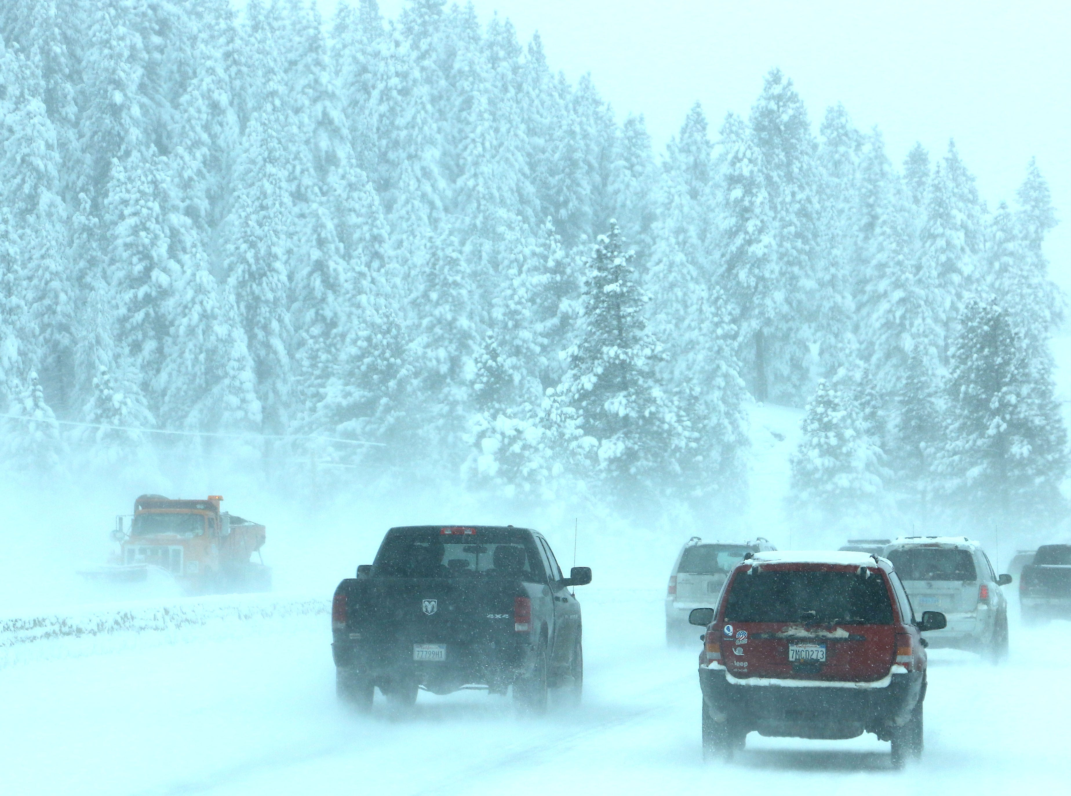 California Highway Patrol and Caltrans reopen I-80 after a major storm hit the Reno-Tahoe region on Feb. 5, 2019.