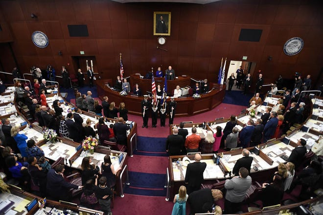 A photo that was taken on the first day of the 80th session of Nevada Legislature. The session started on Monday, Feb. 4, 2019.