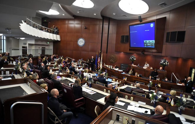 Images from the first day of the 80th session of the Nevada Legislature on Monday Feb. 4, 2019.