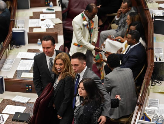 Images from the first day of the 80th session of the Nevada Legislature on Monday Feb. 4, 2019.the 80th session of the Nevada Legislature