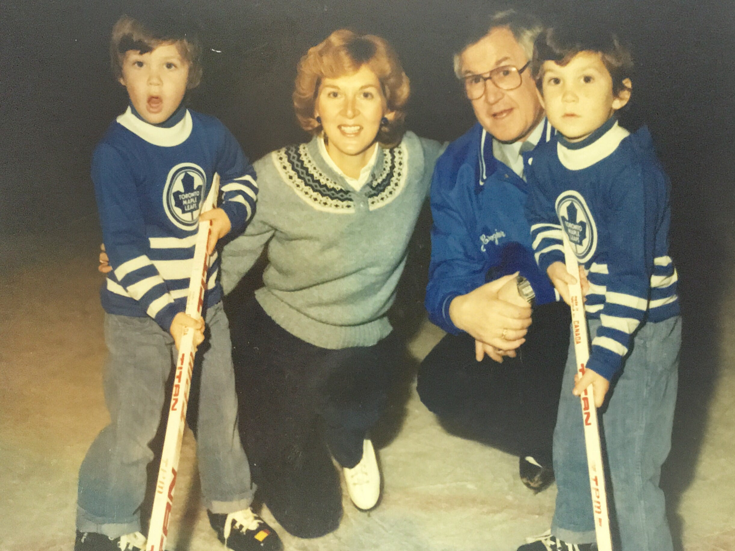 The Croziers during Joe's head coaching stint with the Toronto Maple Leafs in 1980-81.