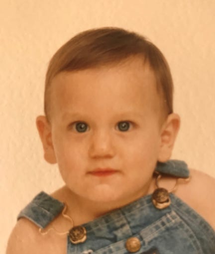 Teddy Geiger at 9 months old