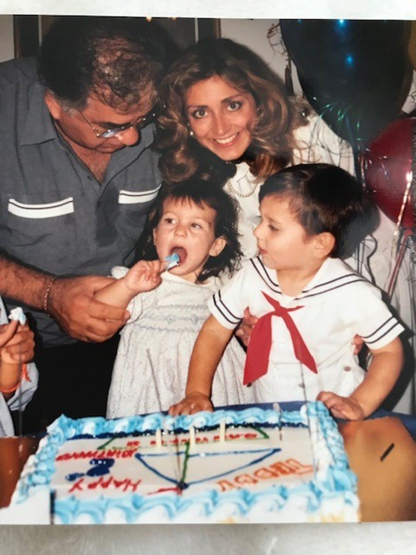 Teddy Geiger's second birthday celebration with her 'Da' and family