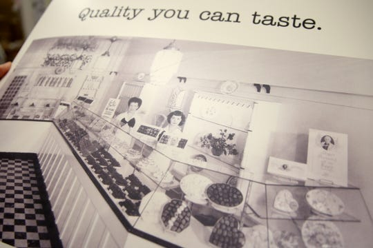A vintage advertisement at See's Candies in downtown Salem on Tuesday, Feb. 5, 2019.