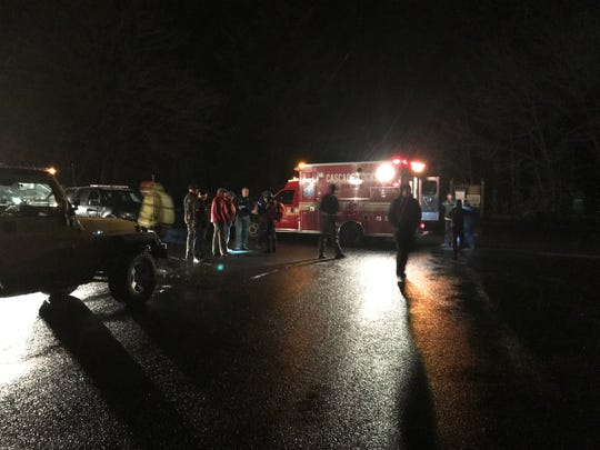 Rescue teams finally reached a Silverton woman injured on a hike in the Columbia River Gorge late Monday night.