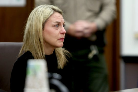 Jennifer Weathers enters a guilty plea for driving under the influence on the night of her daughter's death in 2018 at the Yamhill County Courthouse in McMinnville on Tuesday, Feb. 5, 2019. Meighan Cordie died from blunt force trauma after jumping or falling out of the car her mother was driving while her 3-year-old daughter was also in the vehicle.