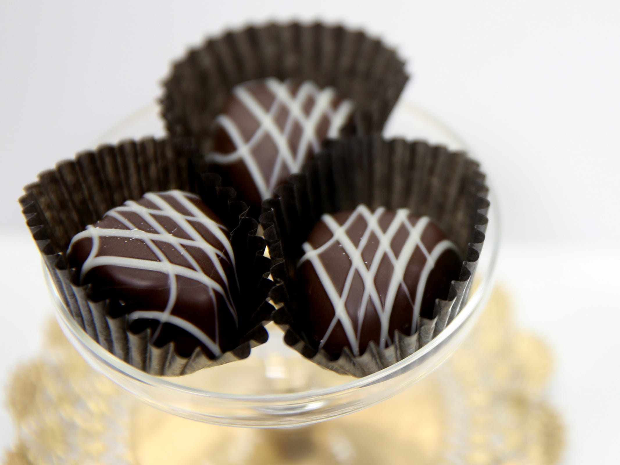 Heart-shaped truffles available at See's Candies in downtown Salem on Tuesday, Feb. 5, 2019.