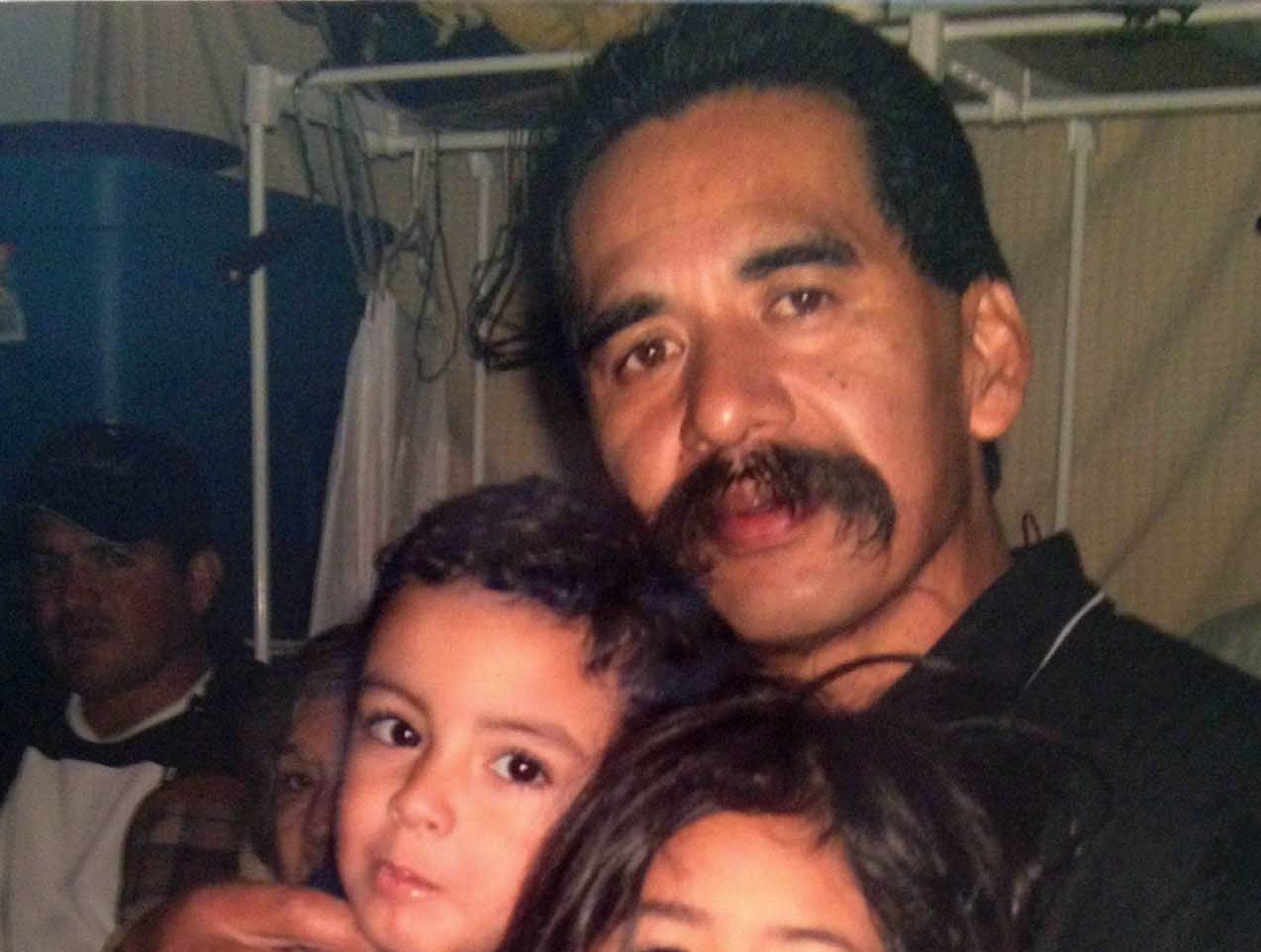 Mark Pajas Sr. is pictured with his loved ones.