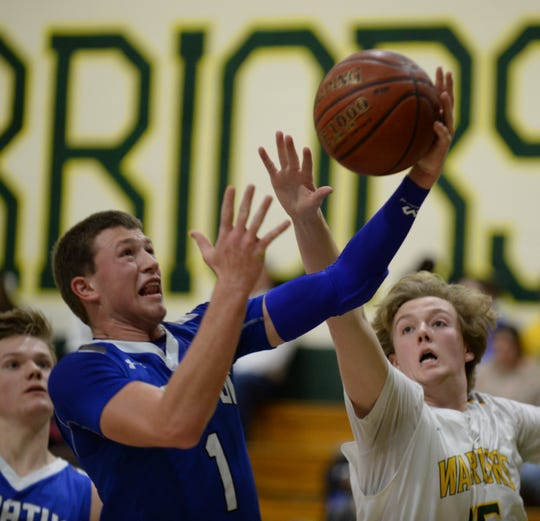 Stephen Decatur's Drew Haueisen puts up a shot against Mardela on Tuesday, Feb. 5, 2019.