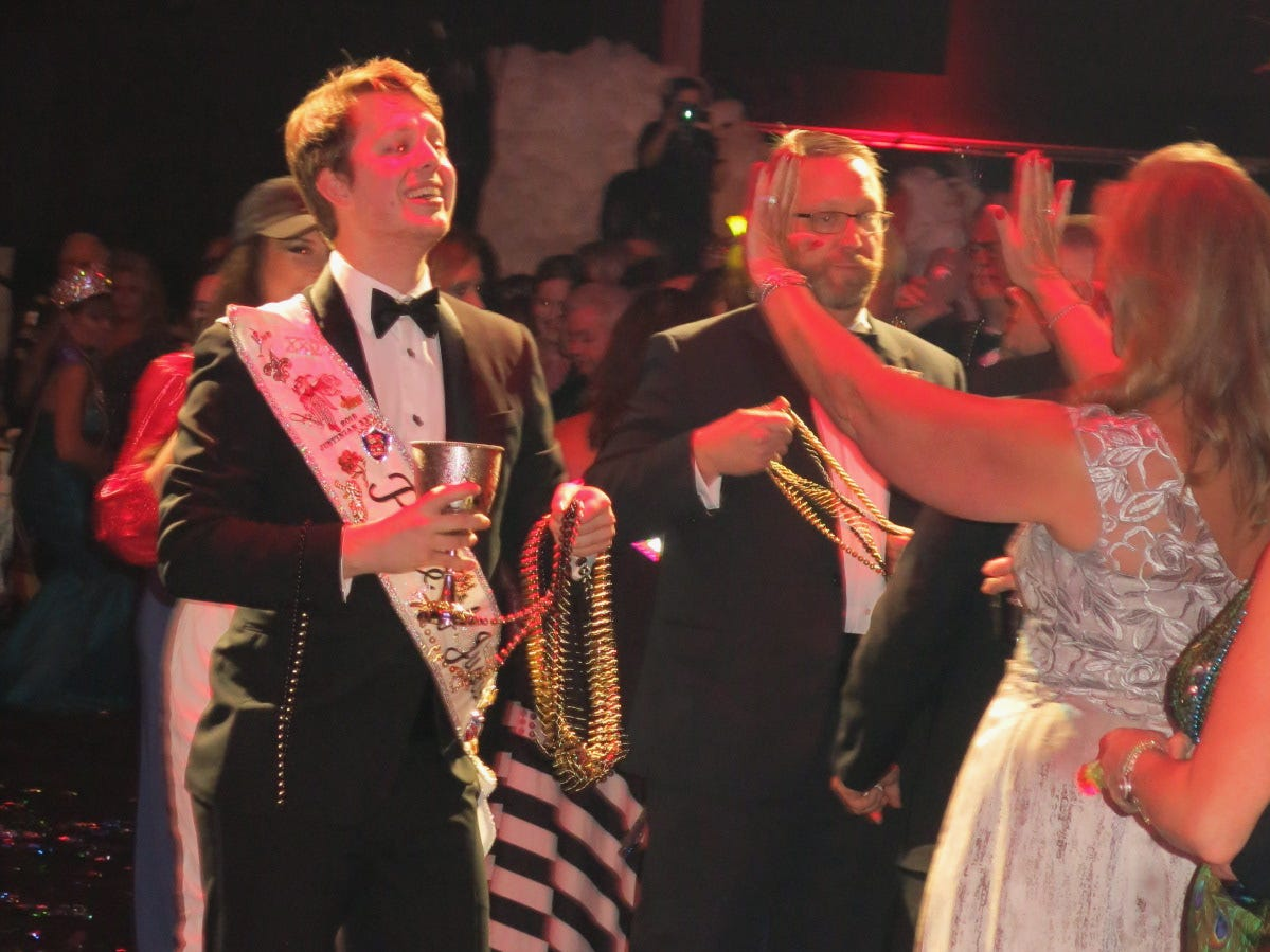 "Krewe Justinian Grand Bal XXV ""Run for the Roses"" was Friday at Horseshoe Riverdome."