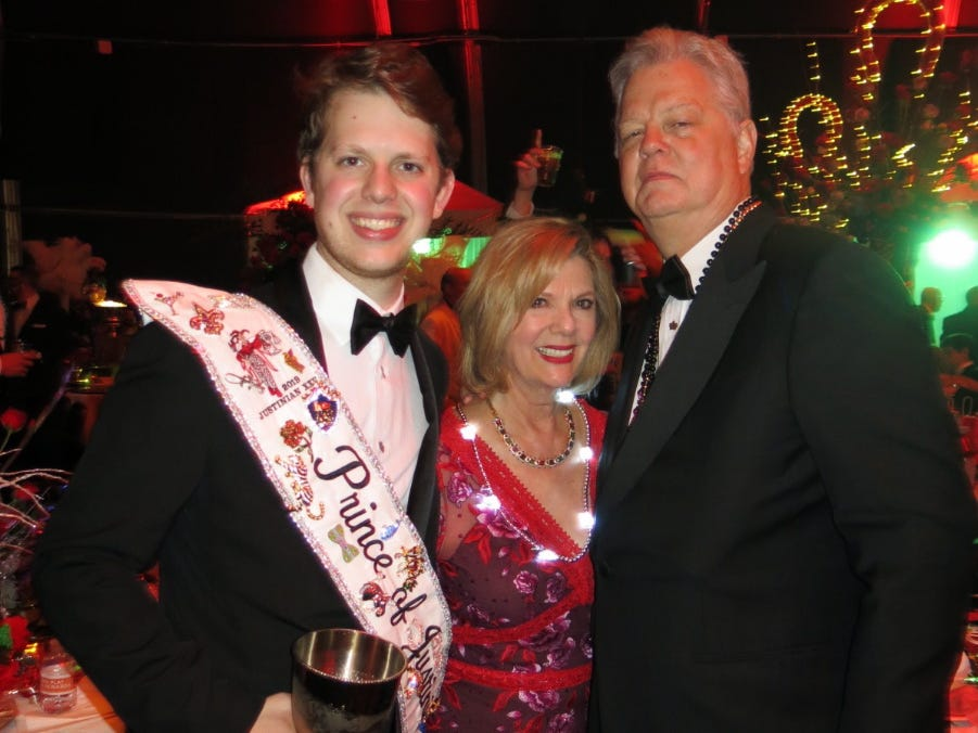 """Krewe Justinian Grand Bal XXV """"Run for the Roses"""" was Friday at Horseshoe Riverdome."""