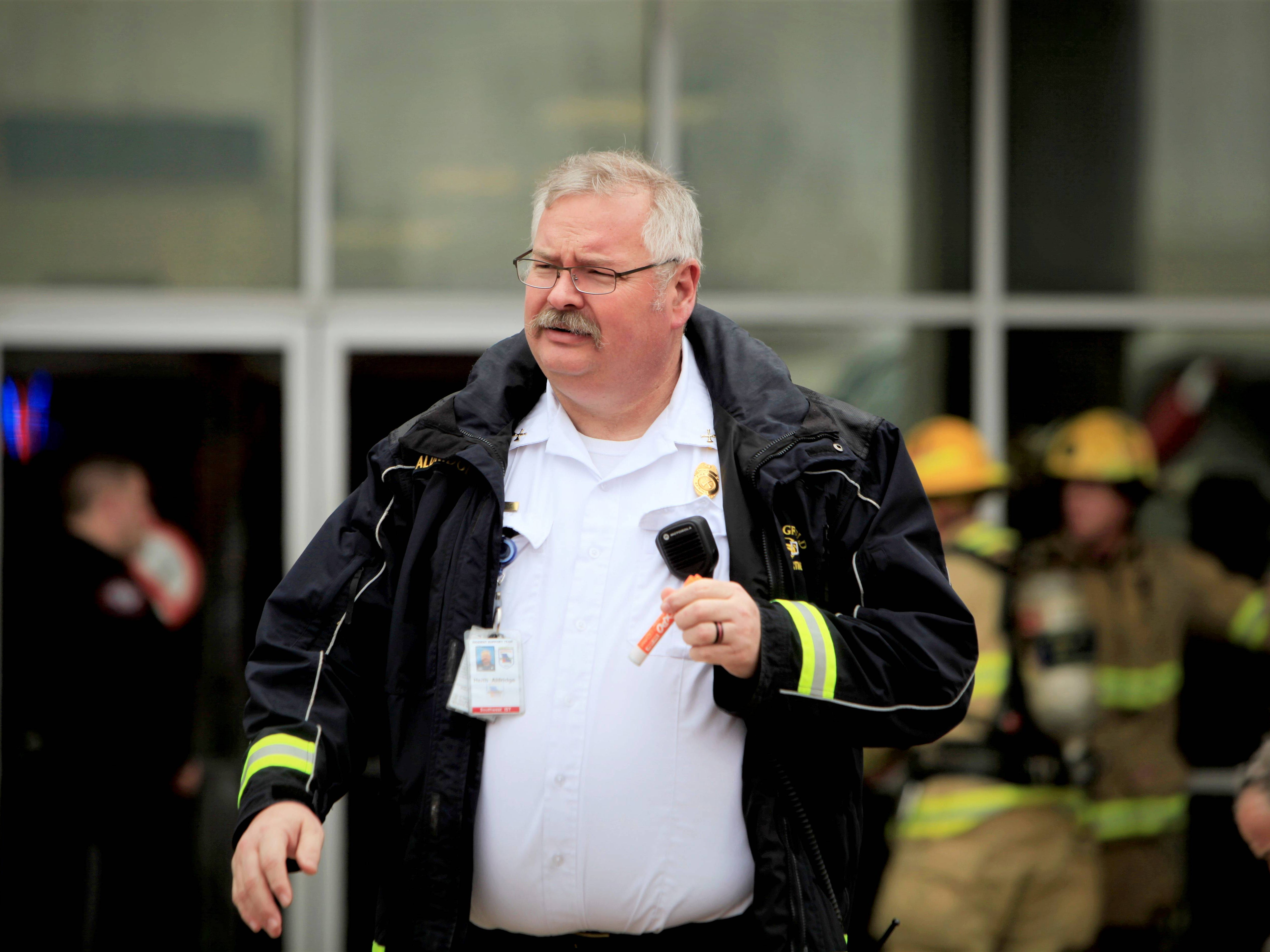 Springfield Fire Battalion Chief Heith Aldridge said the smoke may have came from an elevator's heater motor.