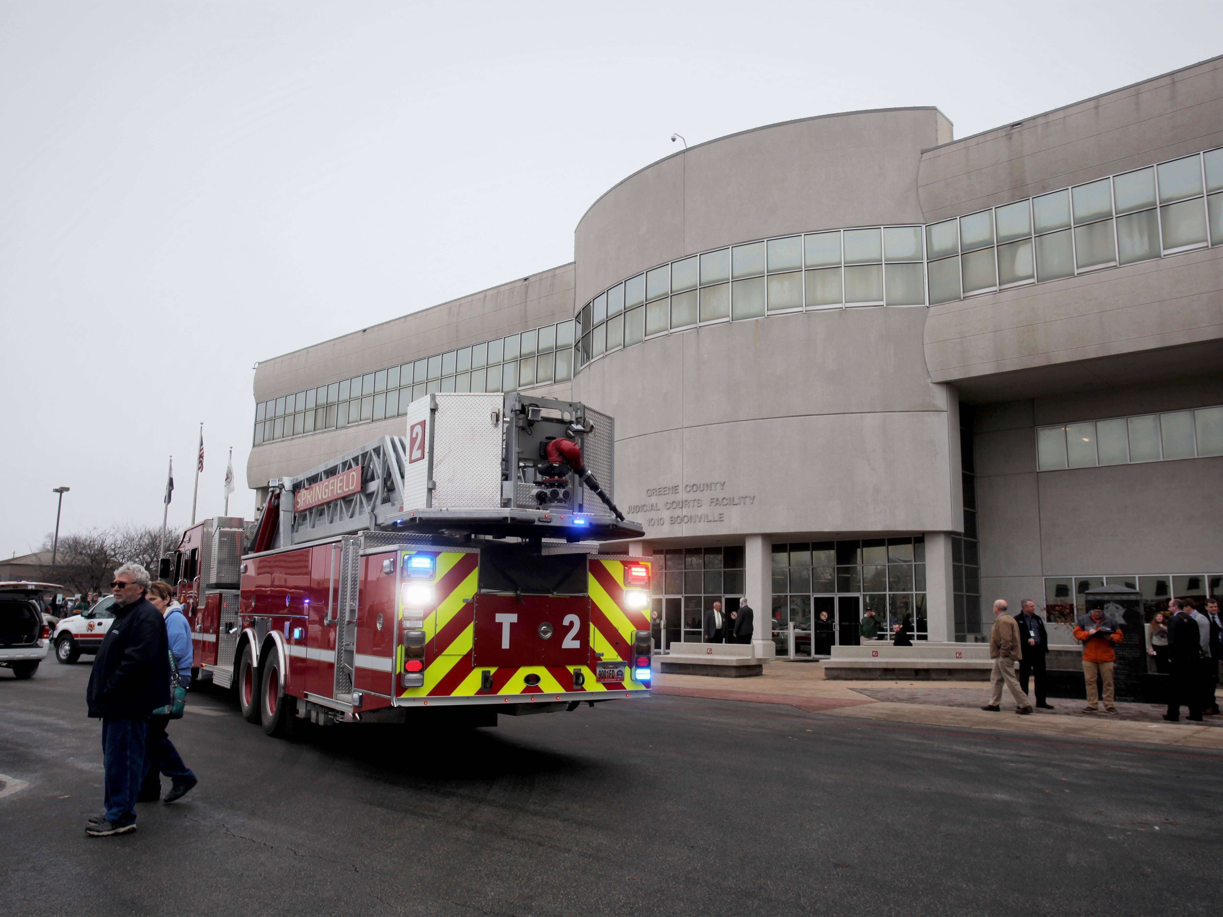Smoke was spotted in an elevator at Greene County Courthouse Feb. 5.