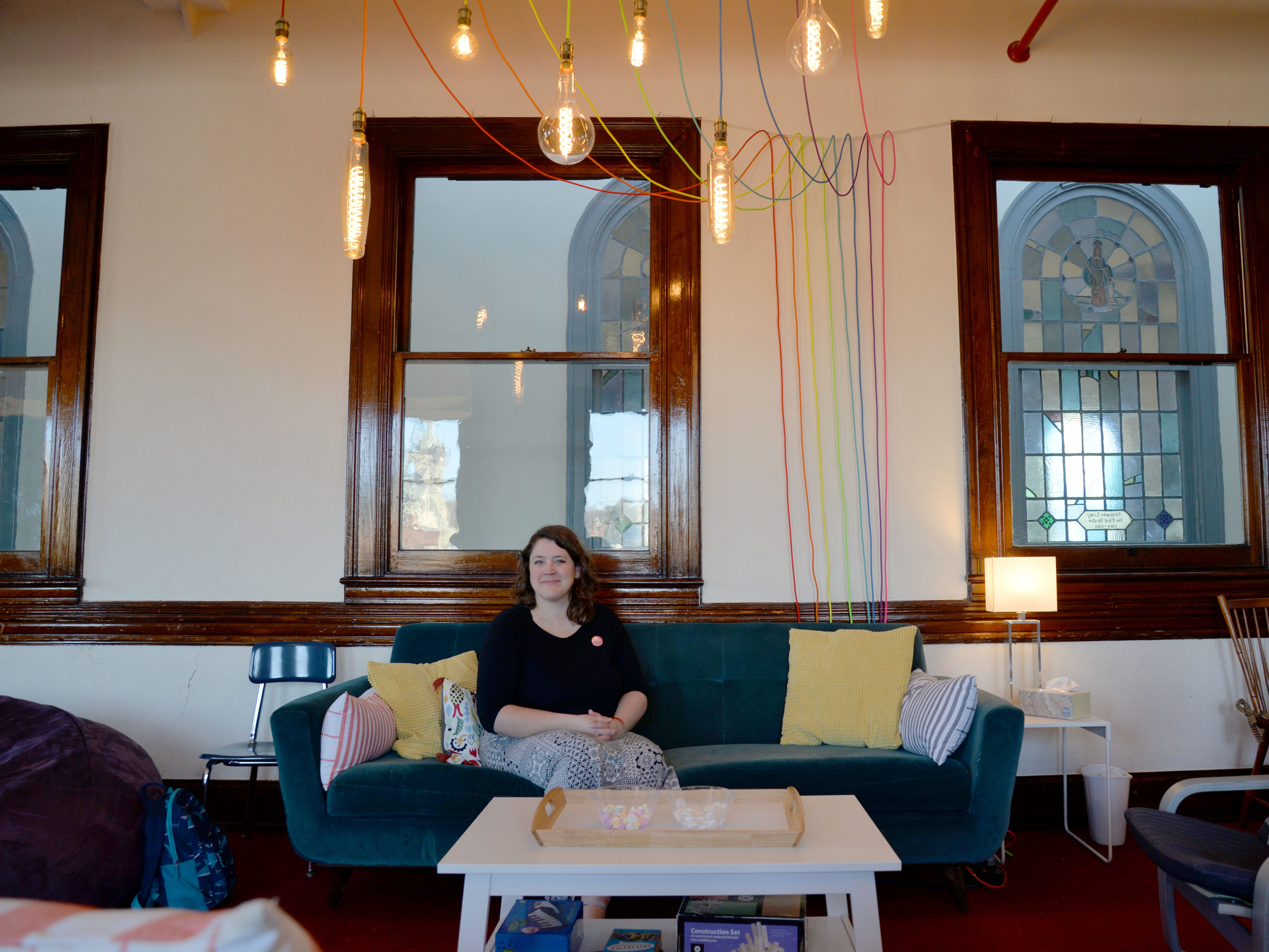 Executive Director Emily Sproul of the Shenandoah LGBTQ Center. The center has found a permanent home in Staunton's Masonic Building.