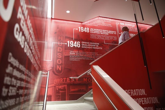 The three-story stairwell in FSU's new Jim Moran Building, 111 S. Monroe St. The former Guaranty Bank Building, valued at $1.1 million, was donated to Florida State by Brian and Kathryn Ballard.