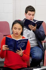 Chiles 12th-graders Anna Edge and Conner Fabrega practice for trip to Carnegie Hall.