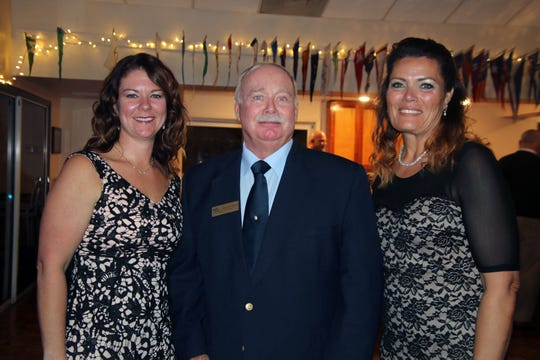 Roxanne Bourbonniere, left, George McDaniel and Shirley Lindstadt at the Dollars for Scholars fundraiser at the Fort Pierce Yacht Club on Jan. 27.