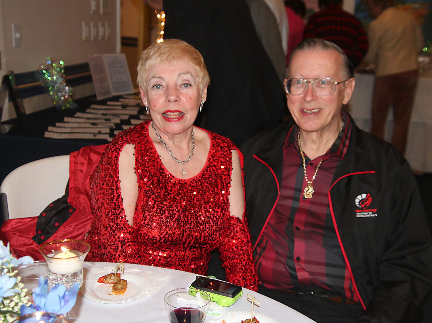 Eleanor Morris and Karl Danneil enjoy the Dollars for Scholars fundraiser at the Fort Pierce Yacht Club on Jan. 27.