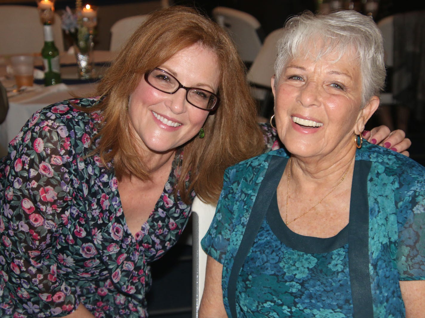 Jane and Gwen Omans at the Dollars for Scholars fundraiser at the Fort Pierce Yacht Club on Jan. 27.