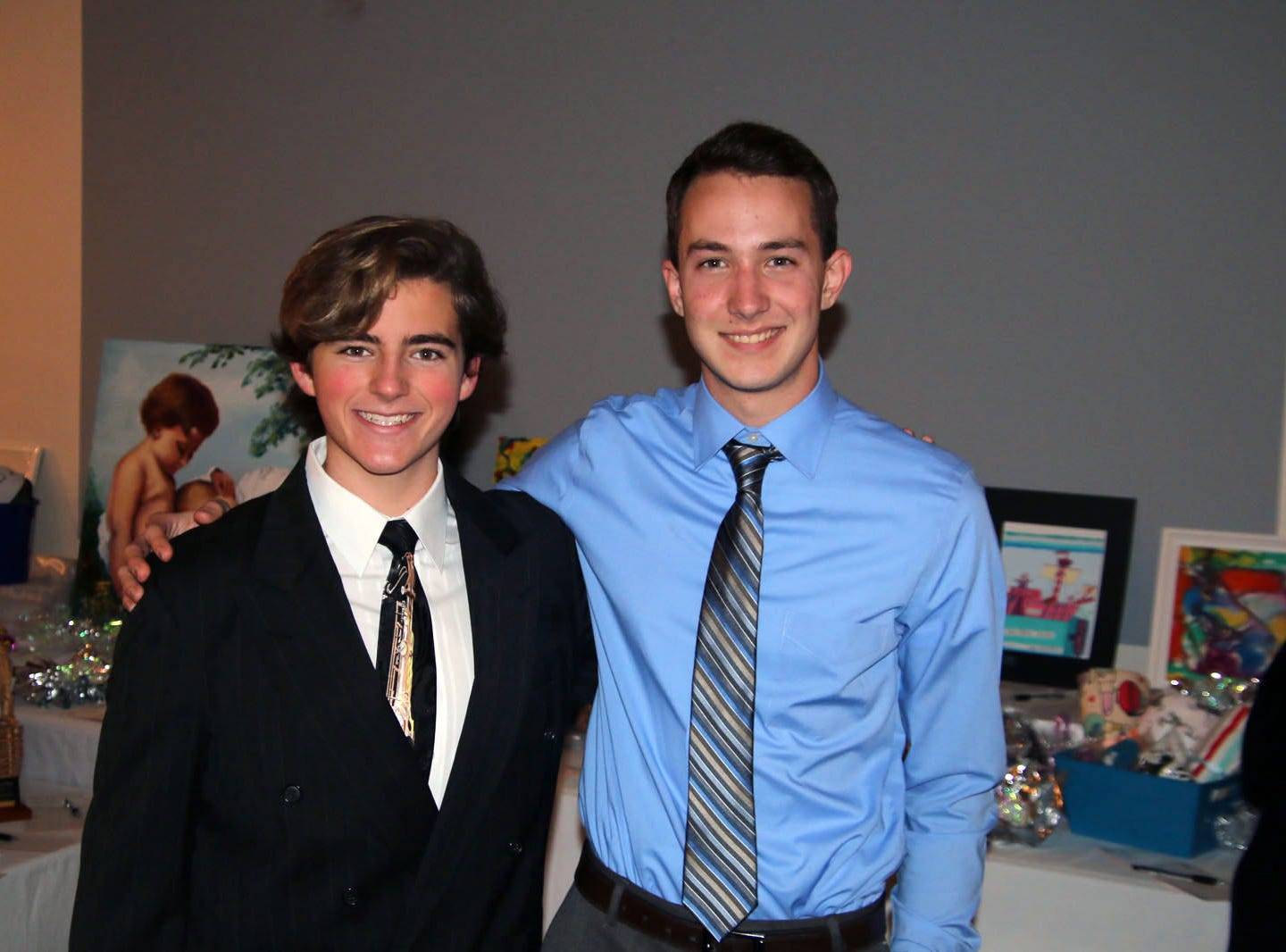 Roseman and Colin Dobbins at the Dollars for Scholars fundraiser at the Fort Pierce Yacht Club on Jan. 27.