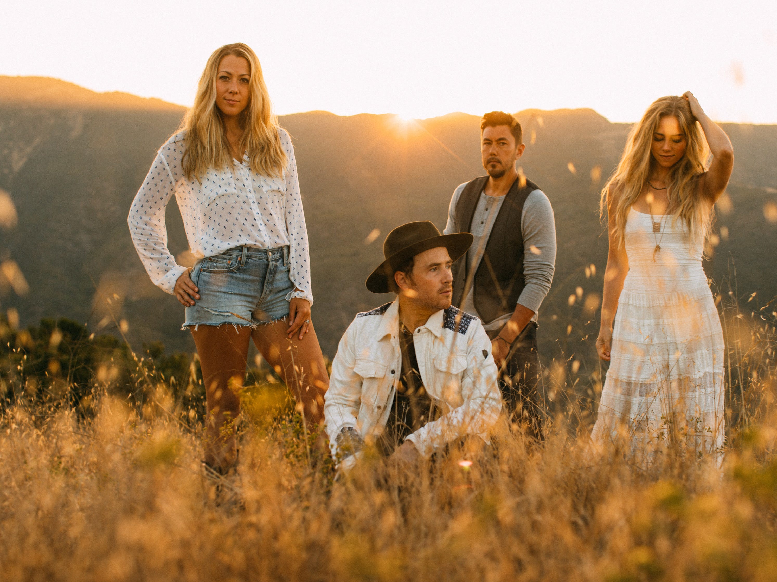 Musician Colbie Caillat, left, will perform at the Borderline Strong concert Feb. 11 in Thousand Oaks with her band Gone West, which also includes Jason Reeves, Justin Young and Nelly Joy.