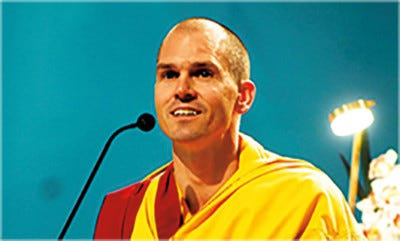 American Buddhist monk Gen Kelsang Rigpa will be featured in a program, The Healing Power of Meditation, at the Scherr Forum in Thousand Oaks Saturday night.