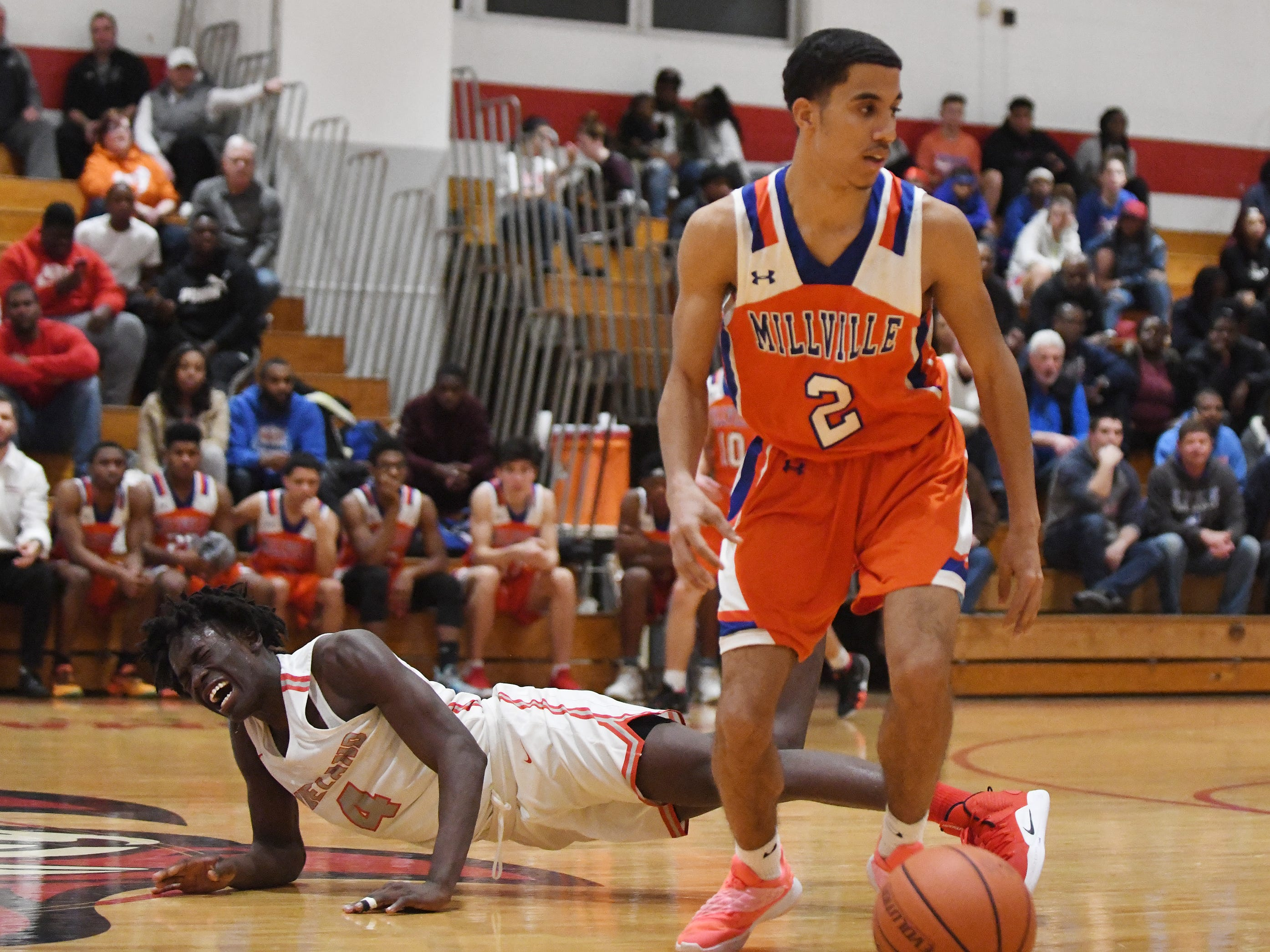 Visiting Millville defeated the Fighting Clan 70-52 during Monday's basketball game in Vineland on Feb. 4, 2019.