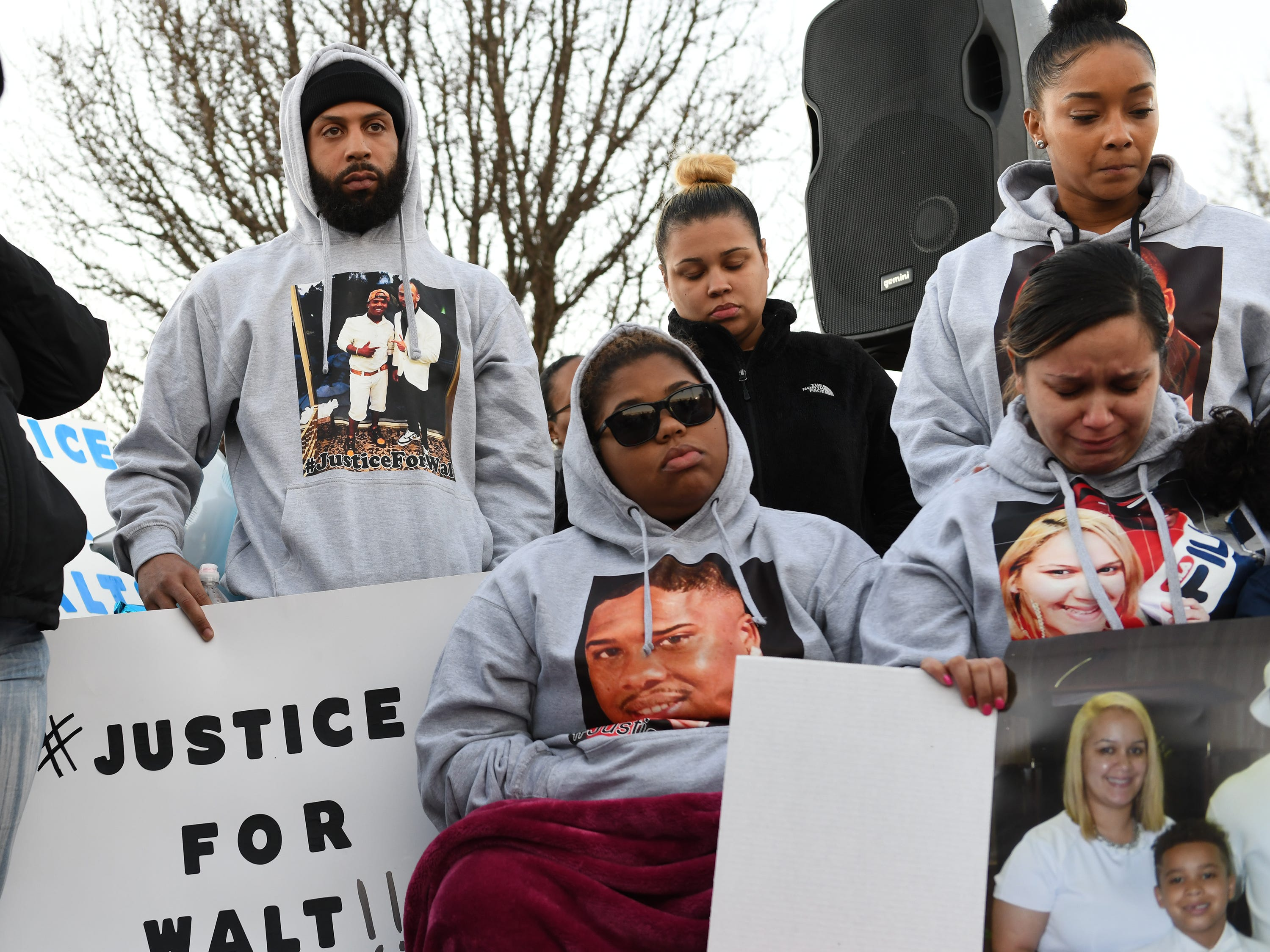 Family and friends gather at the Vineland Midget Football grounds during a vigil for 32-year-old Walter L. Brown III on Monday, Feb. 4, 2019. Brown was fatally shot during a reported home invasion last week.