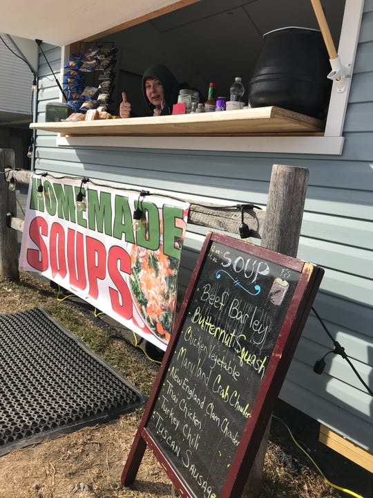 The soup stand next to Wellington's Grill in Harrison.