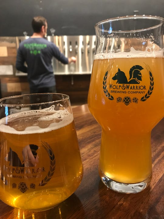 IPAs and pale ales are on the menu at Wolf & Warrior Brewing Company in White Plains. Photographed January 2019.