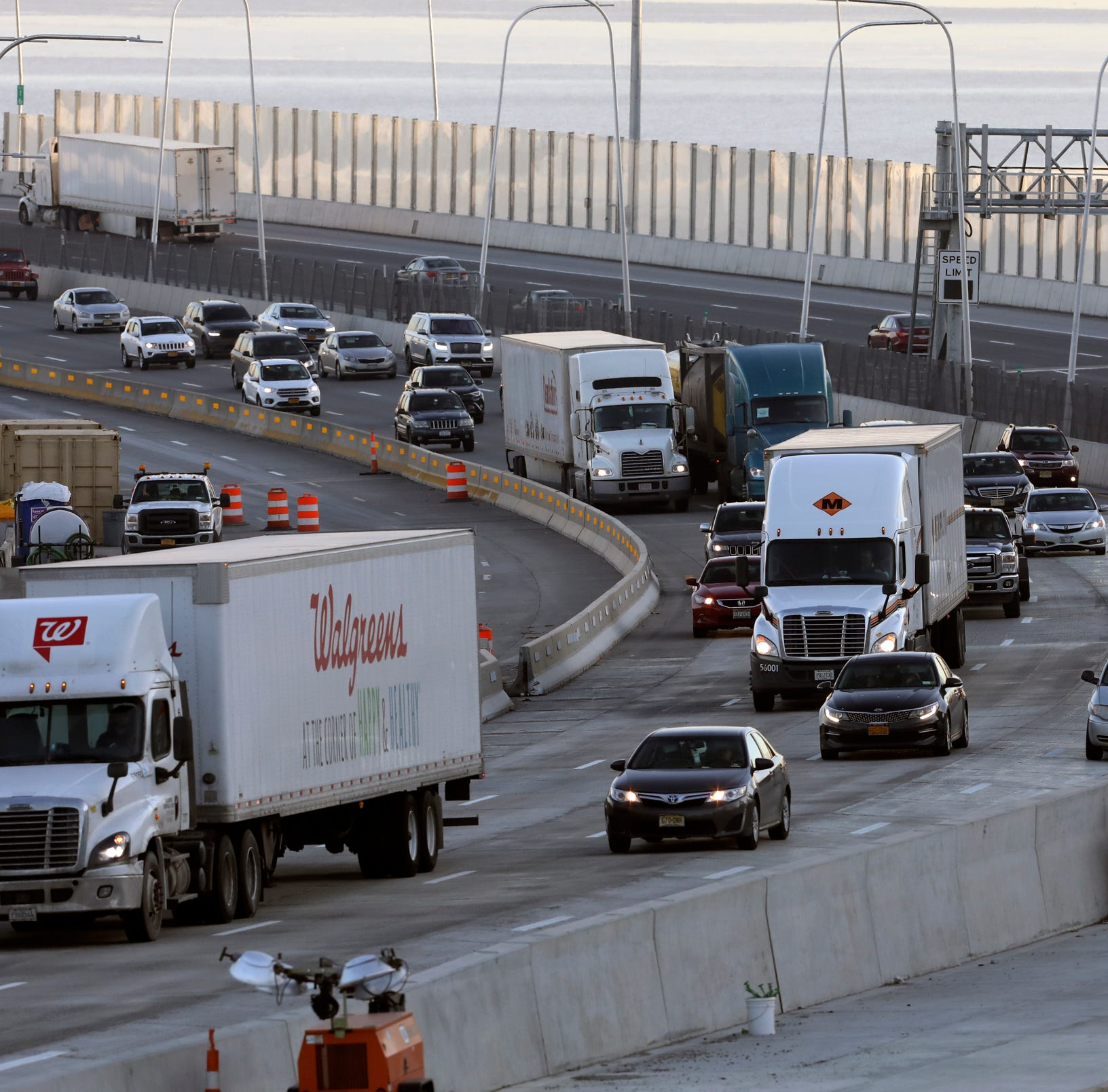 Truck traffic surges on Gov. Mario M. Cuomo Bridge, drops at George Washington Bridge