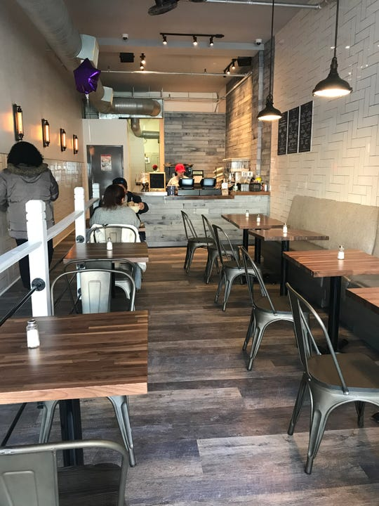 The interior of the new Purple Corn Peruvian Rotisserie Joint in White Plains. Photographed Feb. 5, 2019.