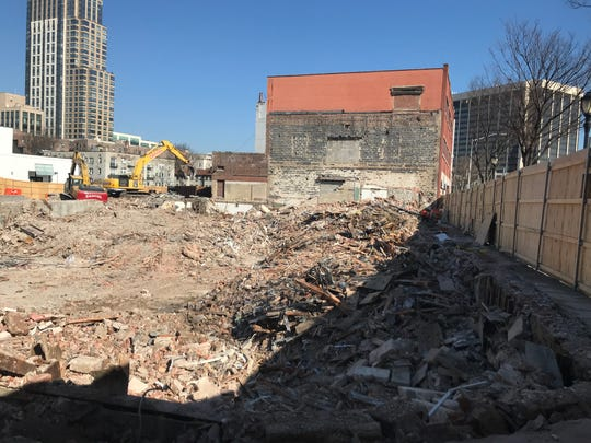 Buildings at the corner of Mamaroneck Avenue and East Post Road, White Plains, have been demolished to make way for a 434-unit mixed-use complex.