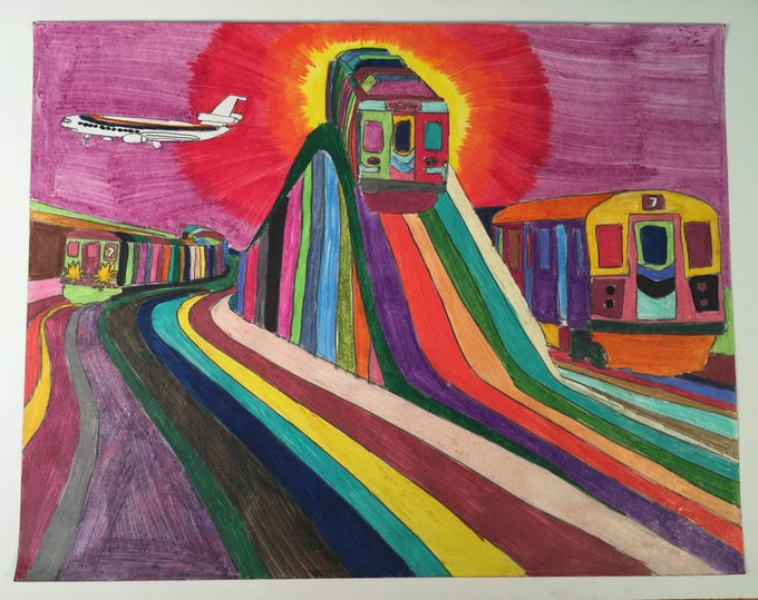 Wilmington artist Geraldo Gonzalez is not only fascinated by transportation, but has made himself an authority on Wilmington's bus system.