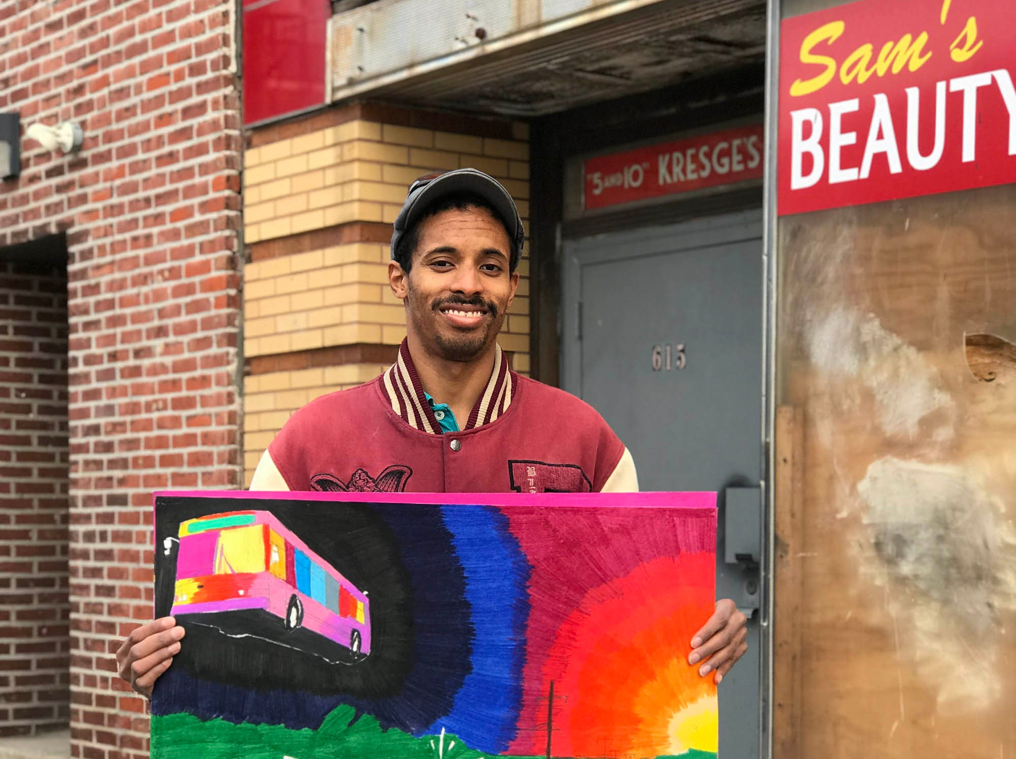 Transportation artist Geraldo Gonzalez came to the Creative Vision Factory eight years ago, frustrated that nobody would take his art seriously.