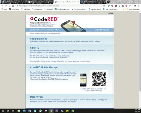 Save the CodeRED numbers in your contact or download the mobile alert app.
