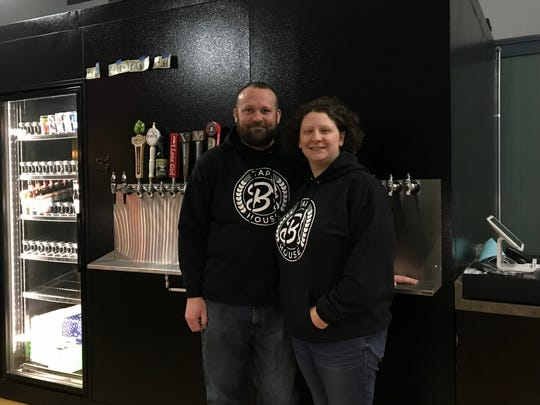 Brandon and Cori Abbott, owners of B's Tap House in Wisconsin Rapids