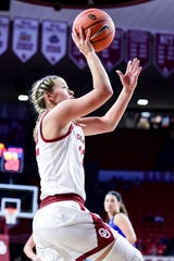 Windthorst's Tatum Veitenheimer has started 15 of Oklahoma's 20 games this season.