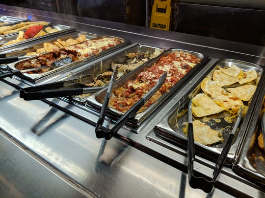 The lunch buffet at El Mejicano Restaurant and Cantina.