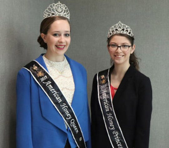 Hannah Sjostrom of Maiden Rock, Wis., (left) is 2019 American Honey Queen while Nicole Medina of N.J. will service as American Honey Princess .