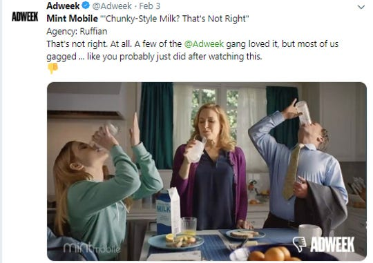 Mint Mobile's Chunky-Style Milk gets another thumbs down.