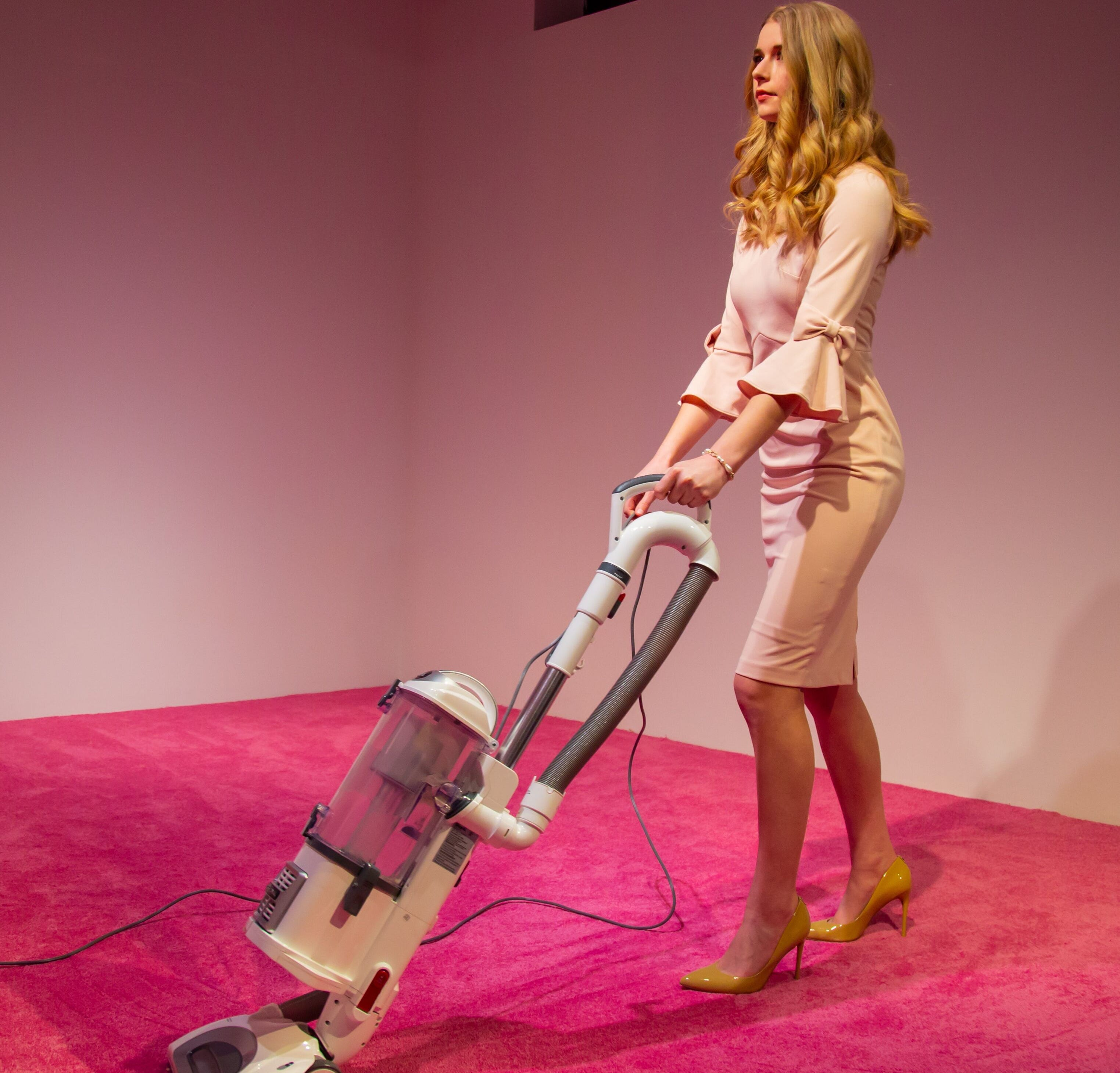 """The art exhibit """"Ivanka Vacuuming"""" by Jennifer Rubell is shown here. The CulturalDC project drew criticism from Ivanka Trump's little brother, Eric Trump."""