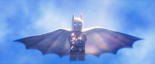 "Batman in all his ""Lego Movie 2"" disco glory."