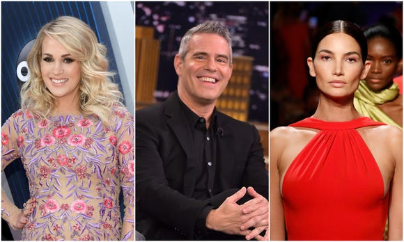 Celebrity Fashion: Country star Carrie Underwood, TV host Andy Cohen and Victoria's Secret mannequin Lily Aldridge are among the celebrities who've welcomed new infants to their families in 2019.
