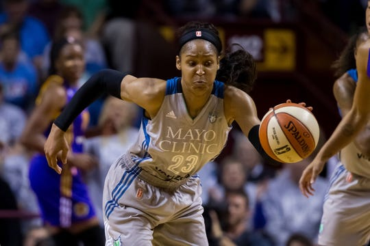 Lynx forward Maya Moore has been named All WNBA First Team five times while leading Minnesota to four championships.