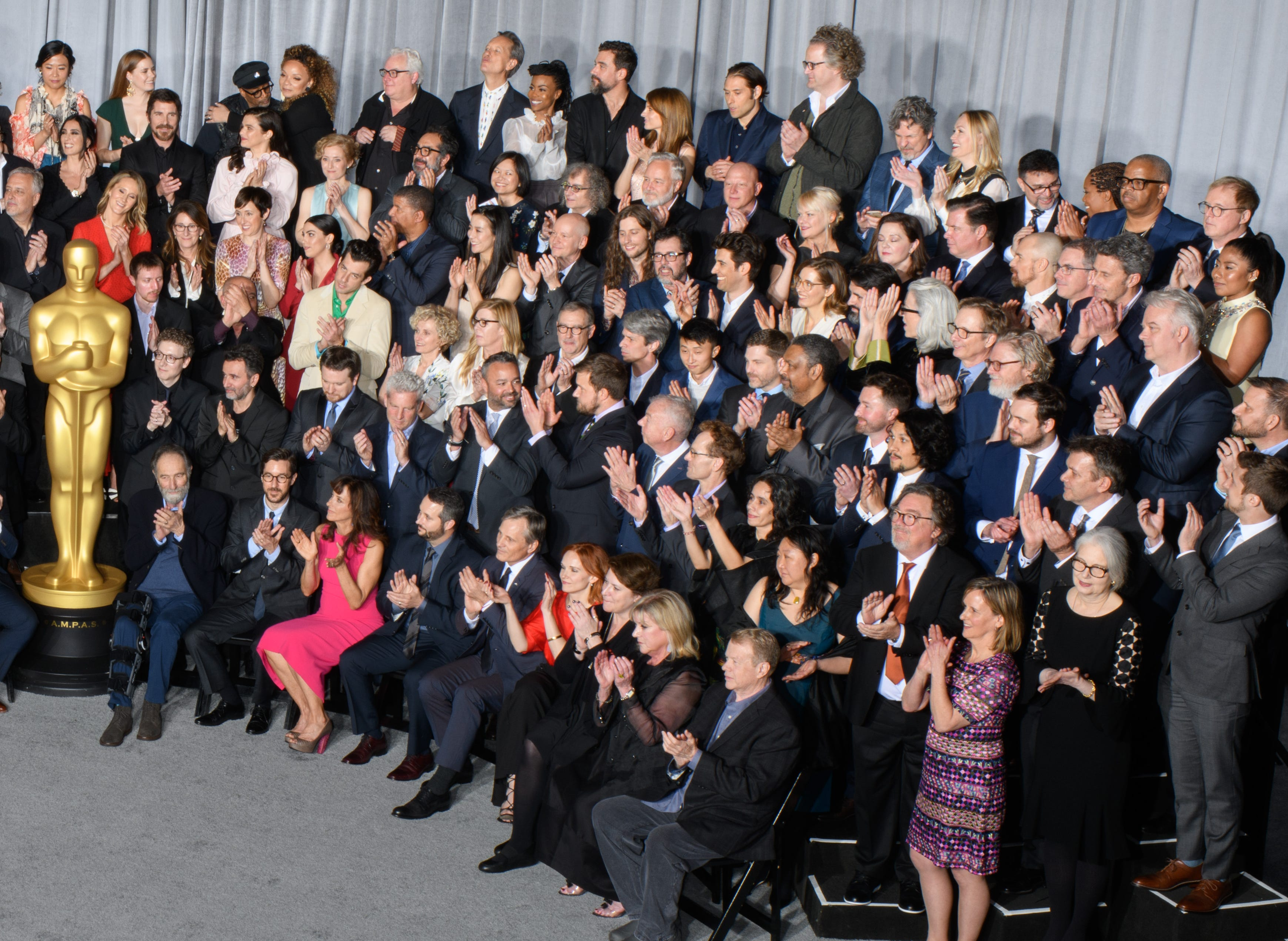 Nominees for the 91st Oscars assembled for a class photo.