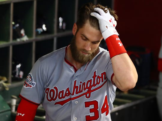 Bryce Harper has been an All-Star six times in seven seasons.