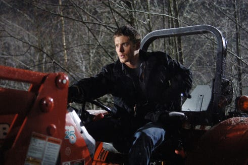 """Dean Winchester (Jensen Ackles) springs into action in a first-season """"Supernatural"""" adventure."""