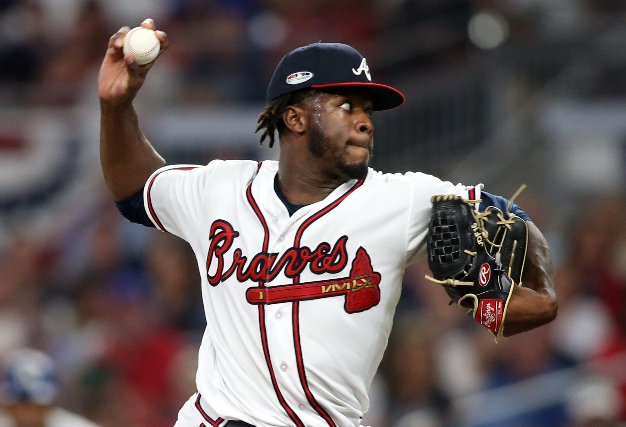 Touki Toussaint pitched in two games in the NLDS.