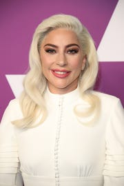 "Lady Gaga, a first-time Oscar acting nominee for ""A Star Is Born,"" arrives at the nominees luncheon."